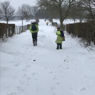 Snow walk to work